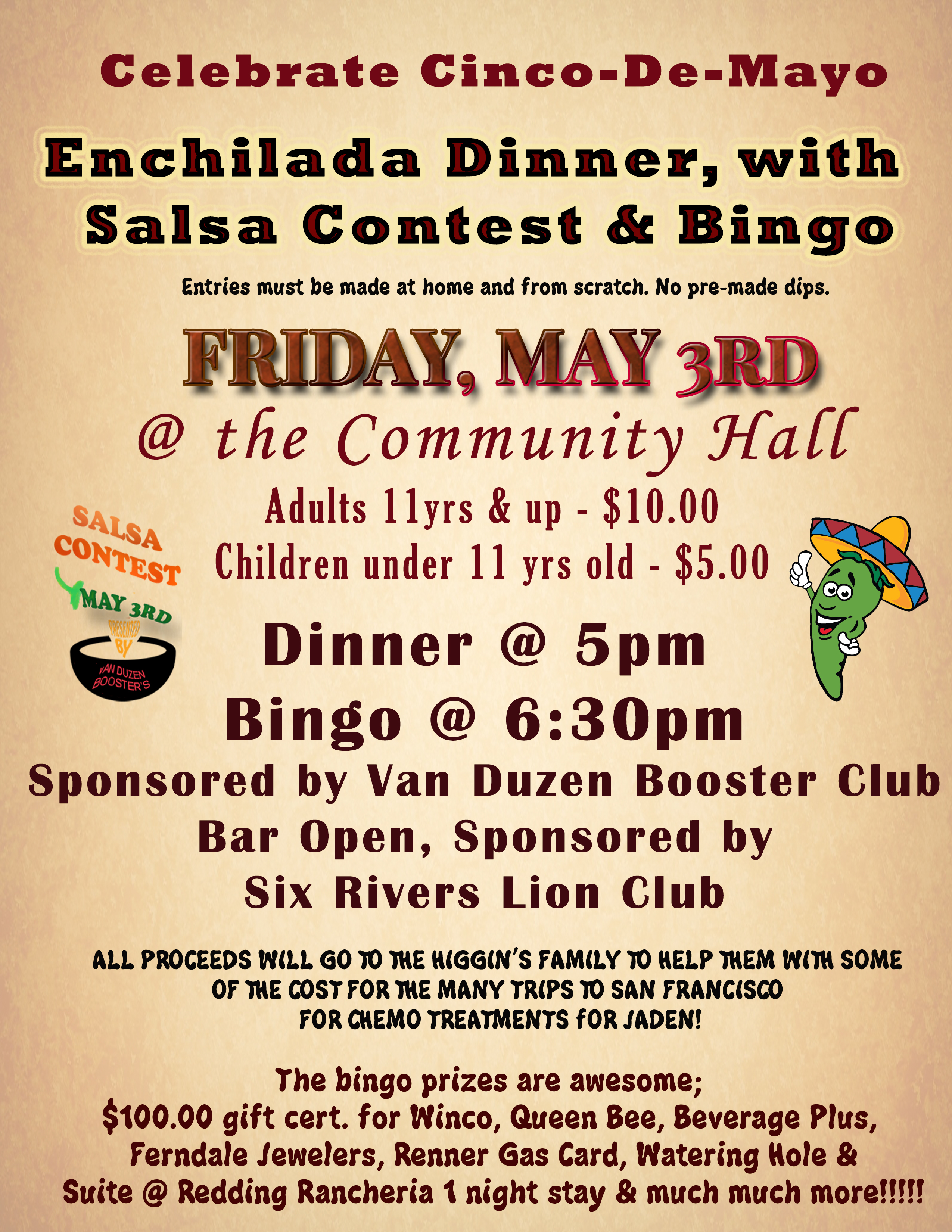 Enchilda Bingo night